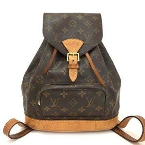 Auth Louis Vuitton Monogram Montsouris PM Backpack